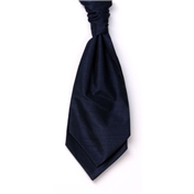 Men's Shantung Wedding Cravat- Navy