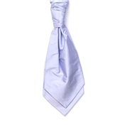 Men's Silk Shantung Wedding Cravat- Lilac