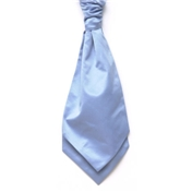 Boy's Satin Wedding Cravat- Light Blue