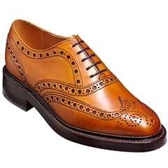 Barker Westfield Shoes - Thick-Sole Country Brogue - Cedar Calf