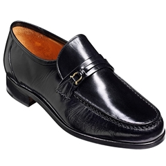 Barker Wade Shoes - Moccasin - Black Kid