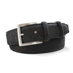Black Suede Nubuck Belt by Robert Charles