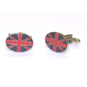 Oval Union Flag Enamel Cufflinks