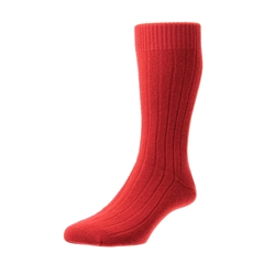 Pantherella Mens Cashmere Socks - Red