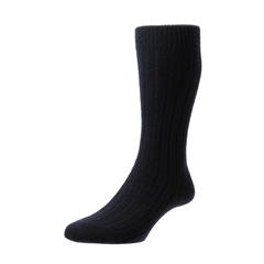 Pantherella Mens Cashmere Socks - Navy