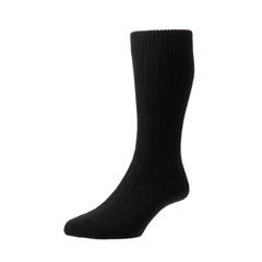 Pantherella Mens Cashmere Socks- Black