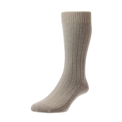 Pantherella Mens Cashmere Socks - Natural