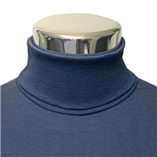 Men's Cotton Roll Neck Sweater - Navy Blue (Buy 2 for £55)