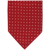 Men's Silk Cravat - Red with White Polka Dot