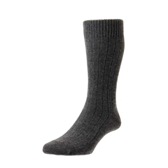 Pantherella Mens Cashmere Socks - Charcoal Grey