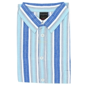 Nightshirts For Gentlemen - Blue Stripe - Sizes Up To 6XLarge