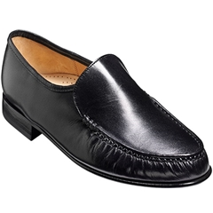 Barker Laurence Shoes - Moccasin - Black Kid