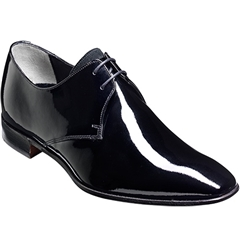 Barker Goldington Shoes - Derby Dress Shoe - Black Patent / Suede
