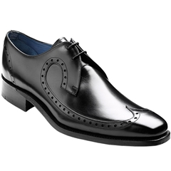 Barker Woody Shoes - Long-Wing Brogue - Black Calf