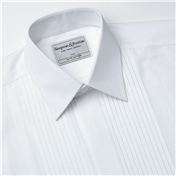 Neat Pleat Standard Collar Evening Shirt