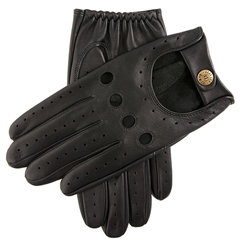 Dents Men's Leather Driving Gloves - Delta - Black