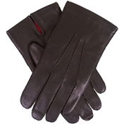 Dents Men's Silk Lined Driving Gloves - Brown