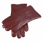 Dents Men's Handsewn Fur Lined Leather Gloves - English Tan