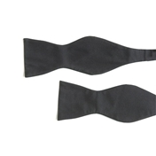 Black Silk Bow To Tie - Twill