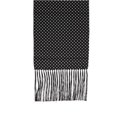 Pure Silk Polka Dot Scarf - Black