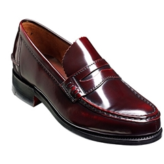 Barker Caruso Shoes - Loafer - Burgundy Hi-Shine