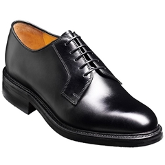 Barker Nairn Shoes - Dainite Rubber Sole - Black Calf
