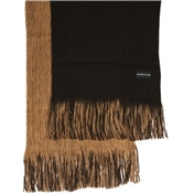 Brown / Beige Reversible Acrylic Fashion Scarf