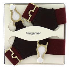 Gentleman's Sock Suspenders - Wine