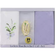 Set of 2 Ladies Handkerchiefs with Small Sewing Kit