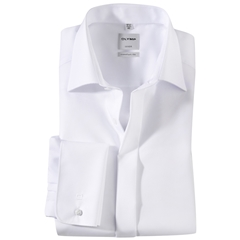 Olymp White Evening Dress Shirt - Standard Collar - Comfort Fit