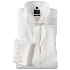 Olymp Cream Evening Dress Shirt - Wing Collar - Modern Fit