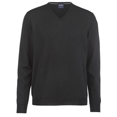 Olymp Knitwear - Olymp Merino Wool  V-Neck Sweater Black