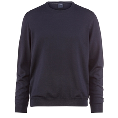 Olymp Knitwear - Olymp Merino Wool Classic Round Neck Sweater Midnight