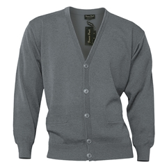 Mens Franco Ponti Button Front Cardigan in Silver