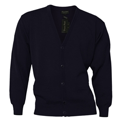 Franco Ponti Button Front Cardigan in Navy
