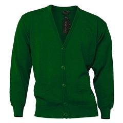 Franco Ponti Button Front Cardigan in Green