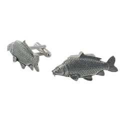 Common Carp English Pewter Cufflinks