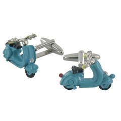 High Detail Blue Scooter Cufflinks