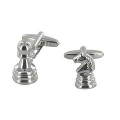 Pawn and Knight Chess Piece Cufflinks