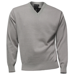Franco Ponti Classic Vee Neck Sweater - Medium Weight - Shadow