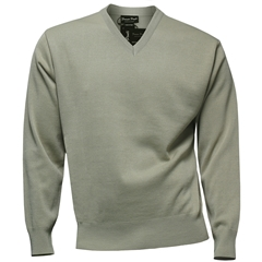 Franco Ponti Classic Vee Neck Sweater - Medium Weight - Tan