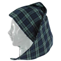 Magee Men's Green and Blue Check Nightcap - Blackwatch Design