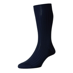 Pantherella Merino Wool Socks - Navy