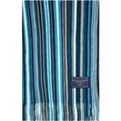 Turquoise Multicoloured Patterned Acrylic Fashion Scarf