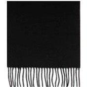 Black Wool Scarf - Plain Black wool Scarf