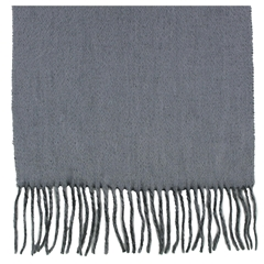 Black and Grey Reversible Cashmere and Wool Scarf